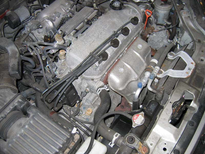 thermostat location 2005 honda civic gx